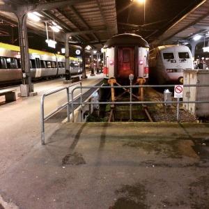 Tåg på stationen